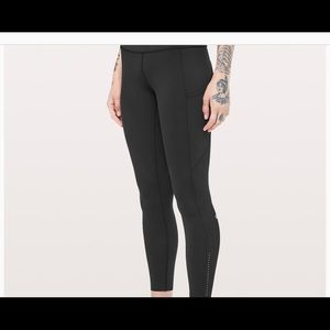 "Lululemon Fast & Free Black Tight II Nulux 25"" NEW"